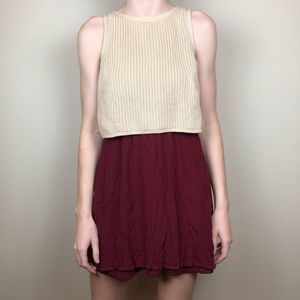 Entro mini knitted top dress